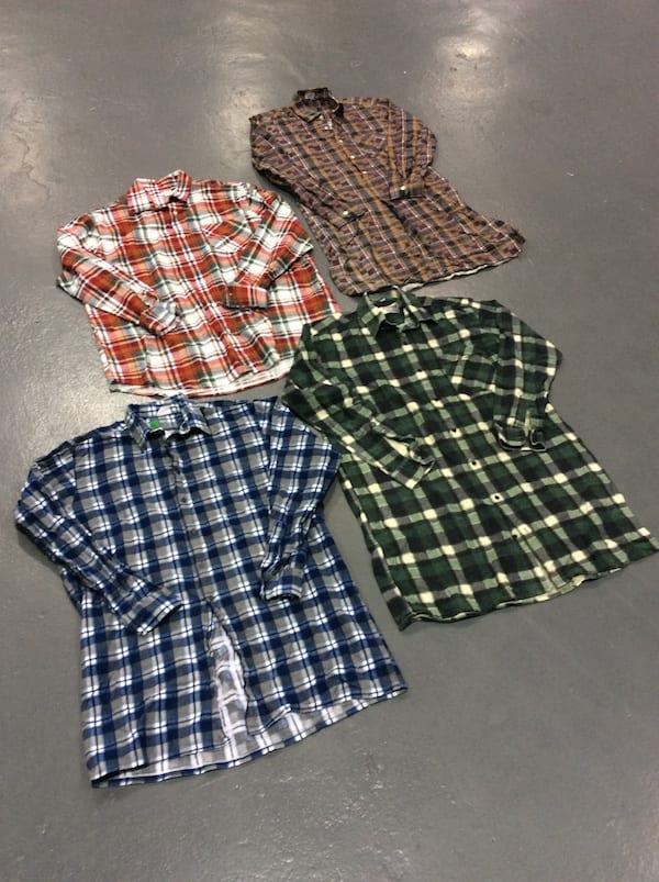 250 x Vintage Lumberjack Flannel shirts