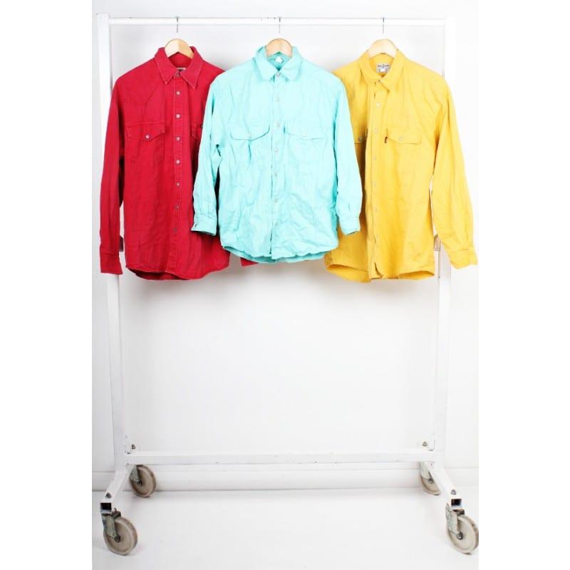 Vintage Unbranded Coloured Denim Shirts