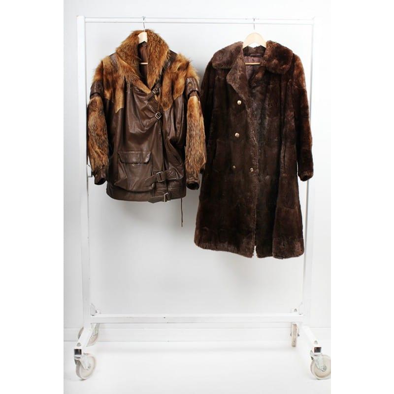 Vintage Real Fur Mixed Coats/Jackets