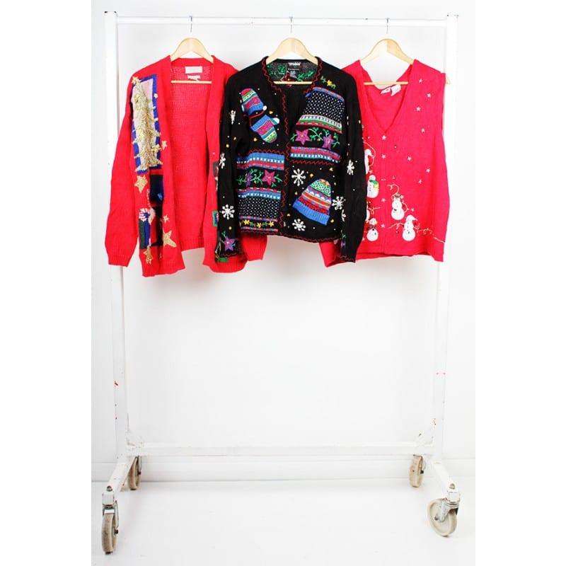 Vintage Christmas Sweaters.Vintage Christmas Sweater Cardigan Mix